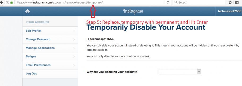 How to delete your instagram account permanently delete instagram account permanently 4 ccuart Images