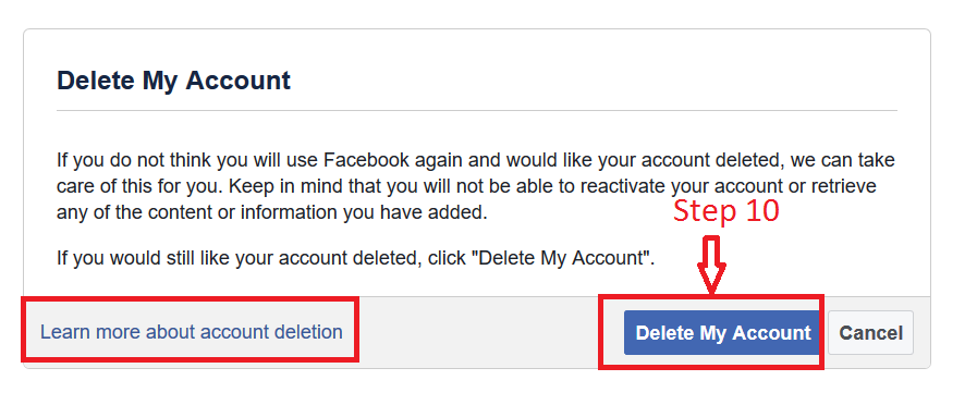 The Facebook Account Deletion Process